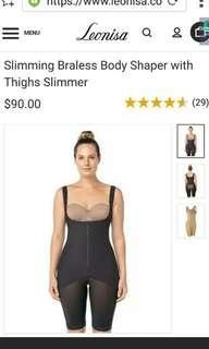 Black Bodyshaper/Bodysuit mid-thigh