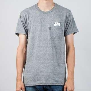 RipNDip Lord Nermal Pocket T Shirt Heather Grey