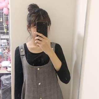 日系千島格連身裙