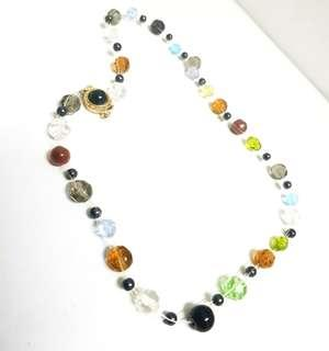 Artificial stone/bead necklace #MFEB20
