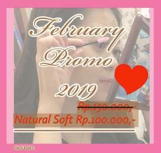 FEBRUARY PROMO - Natural Soft Eyelash Extension