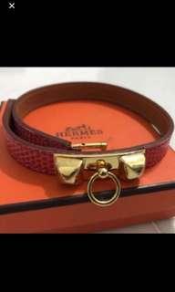 Hermes Bracelet size XS (lizard skin)