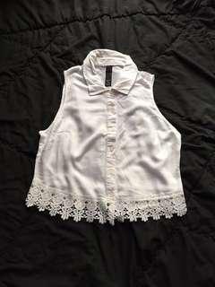 FACTORIE White Crochet Crop Top #ShareTheLove