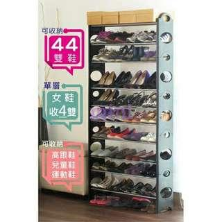 可疊式11層鞋架買一送一超值組$999免運