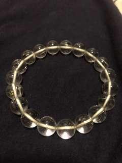 天然高質素銀髮晶手鏈 10mm x 19