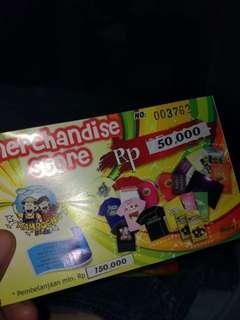 Potongan Harga 50.000 Merchandise Store at Kampoeng Kidz