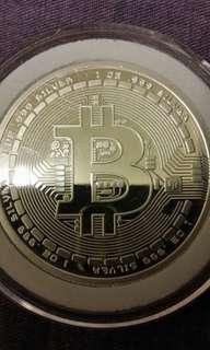 1安士比特币銀币