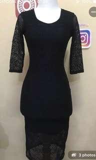 Dress Brocade Bodycon