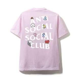 [instock] BT21 x ASSC Peekaboo Pink T-shirt 2XL