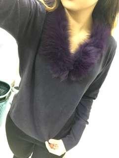 🚚 富貴紫長袖上衣 袖口設計