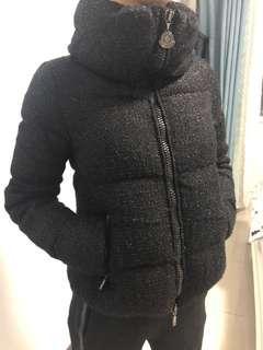 真品Moncler羊毛混紡小香風XS美女00號羽絨外套