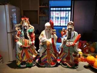 Fu Lu Shou figurine