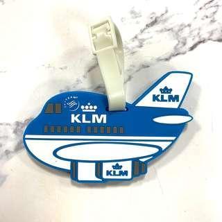 荷蘭皇家航空可愛飛機造型行李吊牌