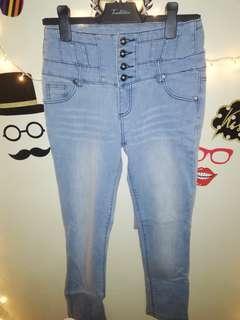Button down Denim Pants