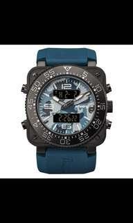 全新正品 美國進口INFANTRY 超粗曠 最高階 迷彩 頂級軍規腕錶 矽膠錶帶 手錶 超大錶俓 不鏽鋼