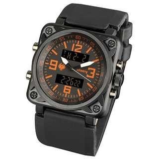 🚚 [全新福利品庫存出清]形象廣告款 INFANTRY 形象廣告款 頂級軍規腕錶 軍事手錶 冷光 超大錶俓 雙顯示