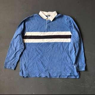 🚚 vintage l.l bean rugby polo top