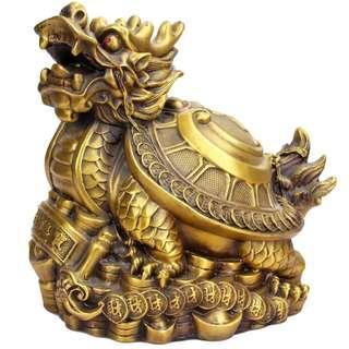黃銅招財龍龜