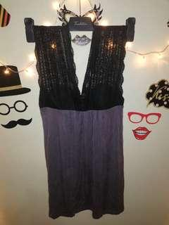 Dark Gray Dress with lace