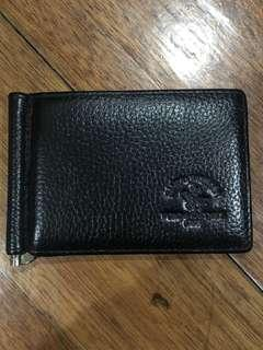 Black card holder with money clip