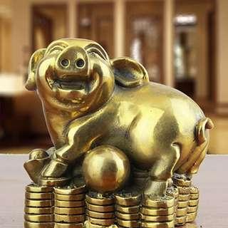 黃銅招財金豬