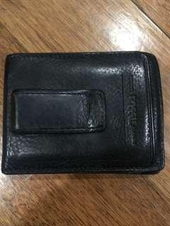 Fossil black wallet with money clip
