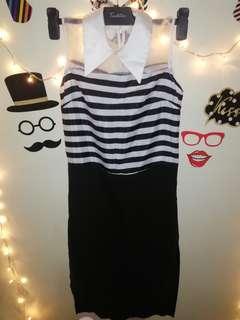 Korean Black & White Dress