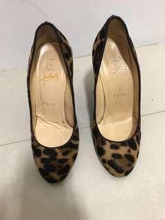Louboutins Leopard Print Heels