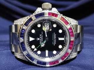 [SOLD] Rolex GMT Master II 116710LN Custom Diamond to SARU