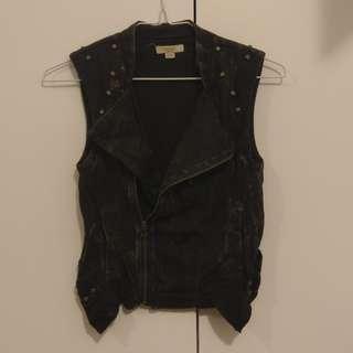Diesel cotton biker vest