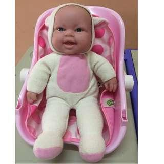 baby doll and carrier