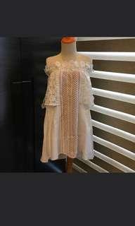 Dress putih merk infashion