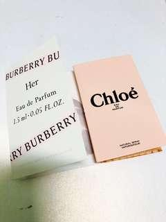 [試用裝] 大量 Chloe / burberry her 香水 sample