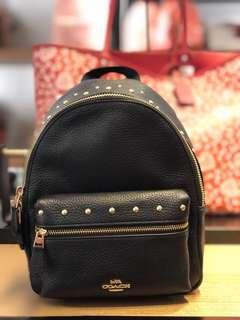 69a8eff4d911c Coach Charlie Charlie Mini Backpack- Black   Orange ☆AUTHENTIC☆
