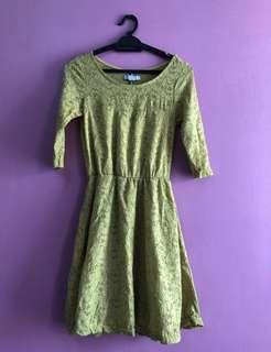 Cotton On Green Lace Dress