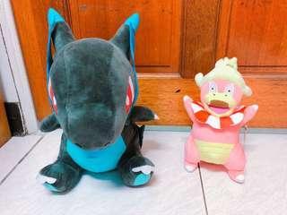 🚚 超稀有 神奇寶貝 精靈寶可夢 30公分大型黑色噴火龍 mega噴火龍 呆呆獸 呆河馬 娃娃 玩偶