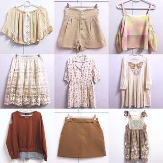 💛💛💛CHECK OUT OUR LISTINGS〜 Assorted various cute comfy pastel clothing for clearance sale!
