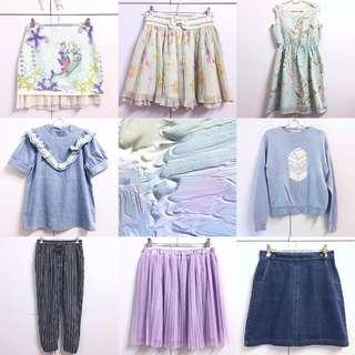 💙💙💙CHECK OUT OUR LISTINGS〜 Assorted various cute comfy pastel clothing for clearance sale!