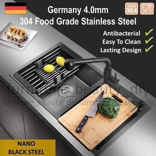 🇩🇪 Handmade 304 Food Grade Stainless Steel Kitchen Sink