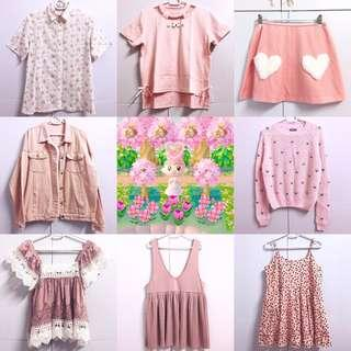 💗💗💗CHECK OUT OUR LISTINGS〜 Assorted various cute comfy pastel clothing for clearance sale!