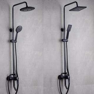 1 Year Warranty Black Steel Rain Shower Set