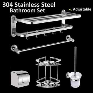 304 Stainless Steel 5 pieces Bathroom Set