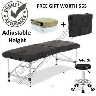 2 Size 60&70cm Adjustable Height Portable Massage Bed
