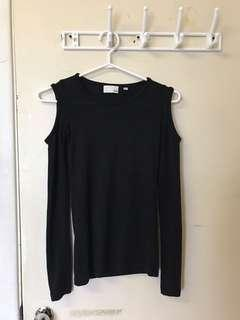 Aritzia Wilfred Free Cold Shoulder Arrington Long Sleeve Top