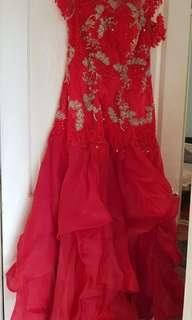 Red ball gown size 12-14