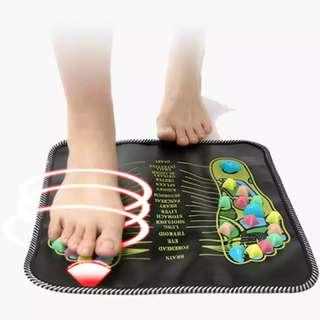 Foot Reflexology Walk Stone Pad Acupuncture Cobblestone Colorful Square Foot Massager Cushion for Relax Body