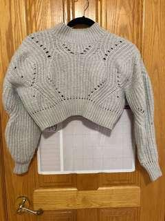 Cropped Grey Turtle Neck