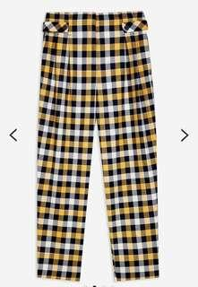 TopShop twill check trousers