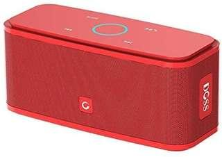 A189 - DOSS SoundBox Bluetooth Speaker, Portable Wireless Bluetooth 4.0 Touch Speakers with 12W HD Sound and Bold Bass, Handsfree, 12H Playtime for Phone, Tablet, TV, Gift Ideas[Red]