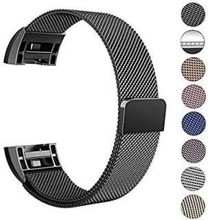 A191 - Reteck Fitbit Charge 2 Strap Band Replacement, Milanese Loop Stainless Steel Magnetic Replacement Wristband Bracelet Watch Band for Fitbit Charge 2